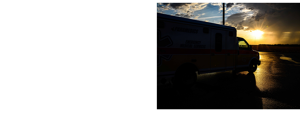 Ambulance at dawn